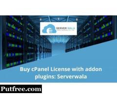 Buy cPanel License with addon plugins: Serverwala