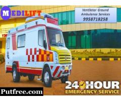 Book Road Ambulance Service in Ranchi with Paramedic and ICU Service
