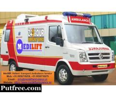 Medilift Road Ambulance Service in Jamshedpur Available at 24 Hours