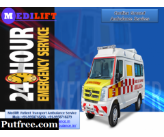 Get Medilift ICU Road Ambulance Service in Bokaro at the Cheapest Cost