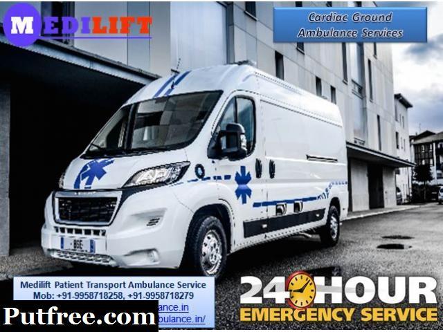 Get Medilift ICU Road Ambulance Service in Tatanagar at Low Fare