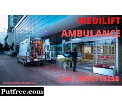 Hassle-Free Medilift Ambulance Service in Patna at Low Fare