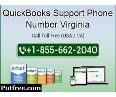 QuickBooks Support Phone Number Virginia 1-855-662-2O4O