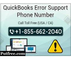 QuickBooks Error Support Phone Number 1-855-662-2O4O