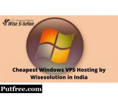 Get advantage of india's cheapest windows VPS hosting at Wisesolution
