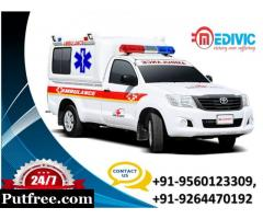 Book Complete Life-Support Exigency Ambulance Service in Delhi by Medivic
