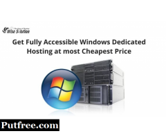 Get fully accessible Windows dedicated hosting at most cheapest price
