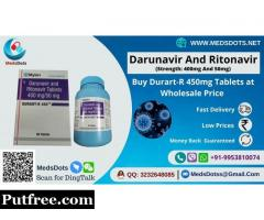 Buy Durart-R 450mg Tablets Online | Generic Darunavir and Ritonavir Wholesale Price