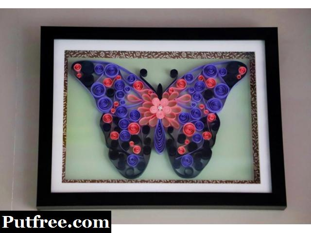 Anniversary gifts Abstract Butterfly art work from Aadhi Creation