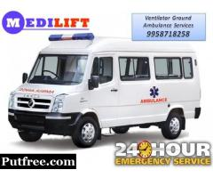 Get Best and Low Fare Road Ambulance in Hatia with Expert Medical Team