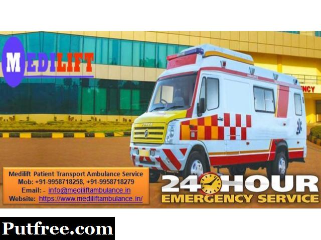 Get Medilift Road Ambulance in Koderma with World Class Transportation