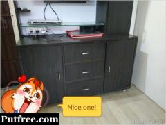 "Tv cabinet and vu 32"" led tv"