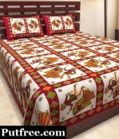 Bedsheet with 2 pillow cover