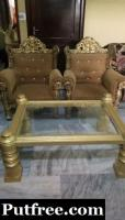 Four royal sofas with table