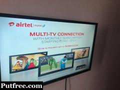 Micromax 32 inch with Airtell setup box  Price Rs 11500