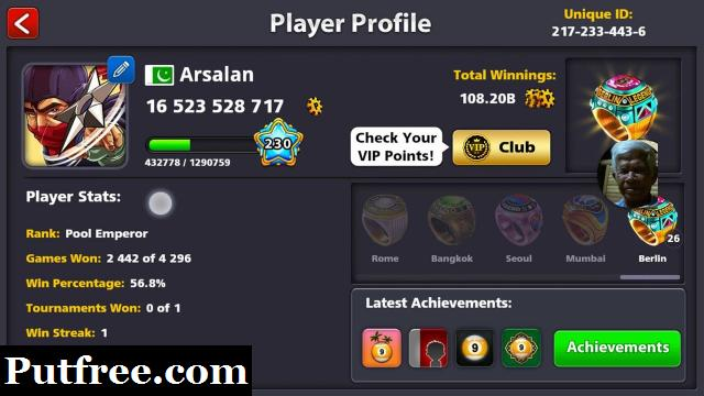 8 Ball Pool Coins Seller From Pakistan