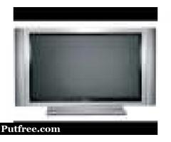 Widescreen flat TV with HD for sale