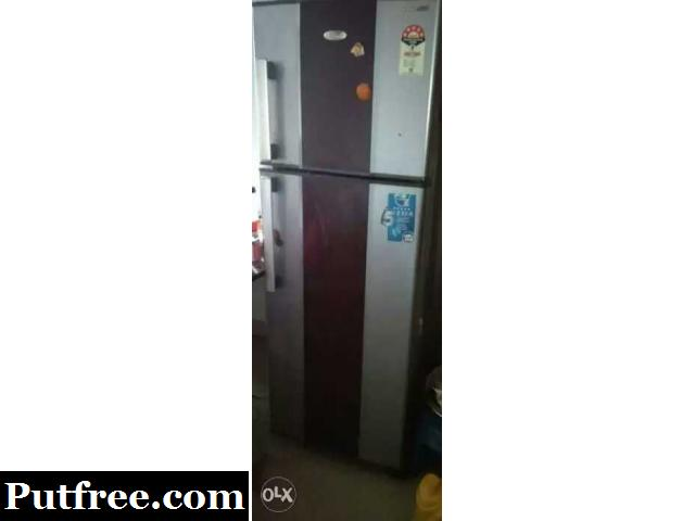 Whirlpool red colour refrigerator