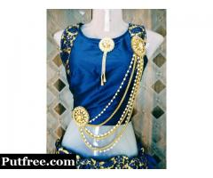 Party wear lahnga and blouse with accessories