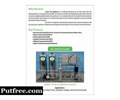 All Types of Water Treatment Plants Manufacturing and Re Works under  Taken