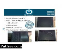 lenovo thinkpad t430 i5'3rd-4gb-250gb-bag-adapter-mintcondiiotn-goodbattery