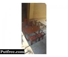 Plastic dinning table set