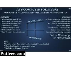 Format and Windows 10 professional with updated drivers and softwares Installation @ Hyderabad City