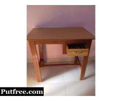 study table and corner wooden