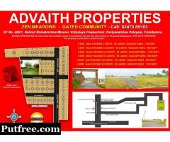 Advaith Properties 2 Bhk Gated Community Periyanaicken Palayam, Covai.
