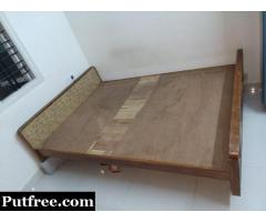 Teak Wood Double Cot for Sale