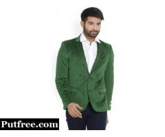 Arrow Solid Single Breasted Casual Men's Blazer (Green) BRAND NEW