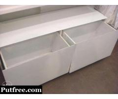 "White Laminated Wooden Drawer Size:Length-54"" Breath-20"" Height-20"""