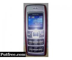 Nokia 1600 Excellent Running Condition with Charger,Original Batter .