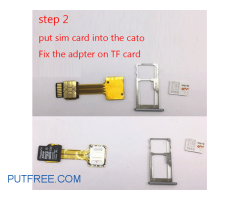 Hybrid Double Dual SIM Card Micro SD Adapter for Android Extender