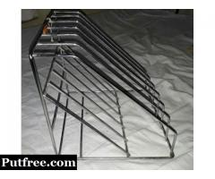 Stainless Steel File Holder and plates stand / rack