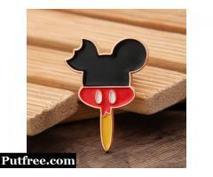Mickey Mouse Head Enamel Pins