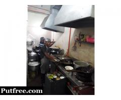 Restaurant South Indian and Chinese all kitchen appliances with chimney