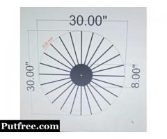 Modern Star Shape Wooden Hand Made Wall Clock