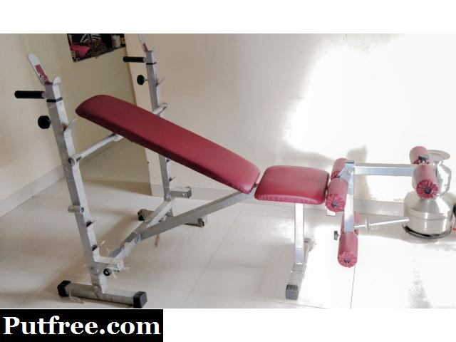 Pro Gym Bench With All Accessories