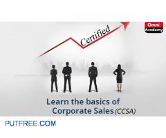 Certified Corporate Sale Associate (CCSA) Training - NO ADMISSION FEE