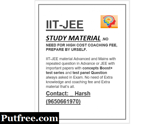 IIT-JEE   STUDY MATERIAL