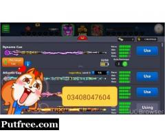 8 ball pool Coins And Legendary For Sale 100% Trusted with proof