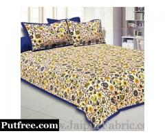 Buy online unique printed Jaipuri Double Bed sheets at reasonable price