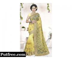 Buy Latest Net sarees collection at Mirraw