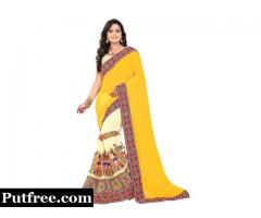 Latest stylish Georgette sarees online at Mirraw